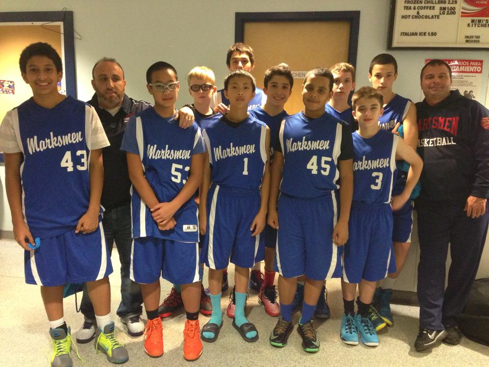 Marksmen Basketball 8th grade fall 2014